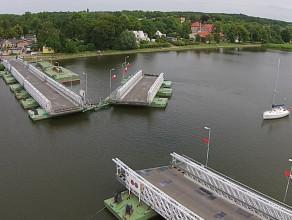 Most na Wyspę Sobieszewską z lotu ptaka