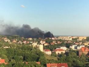 Pożar na gdańskim Chełmie