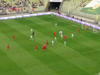 Gol Mario Malocy w meczu Lechia - VfL Wolfsburg