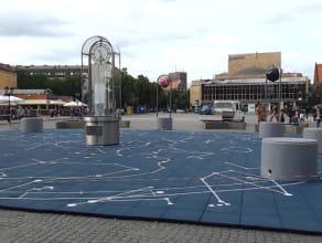 Demontaż instalacji na Targu Węglowym