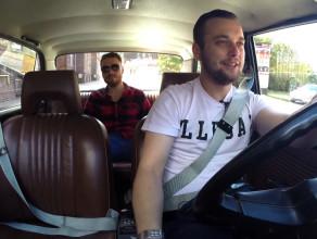 Taxi PRL na ulicach Gdańska