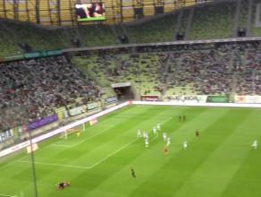 Gol Piotra Polczaka na 1:0 dla Cracovii w meczu z Lechią