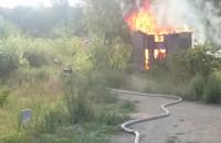 Pożar altanki