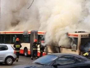 Pożar autobusu 148 na  Żabiance