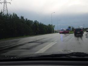Zderzenie czołowe przed Hallera w Gdańsku