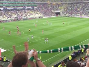 Lechia Gdańsk strzela gola Juventusowi Turyn