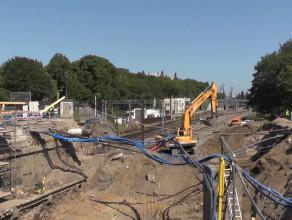 Prace przy budowie tunelu na ul. Hucisko
