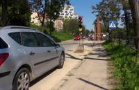 Ruch wahadłowy na ul. Zaroślak w Gdańsku