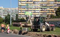 Prace drogowe na al. Rzeczypospolitej