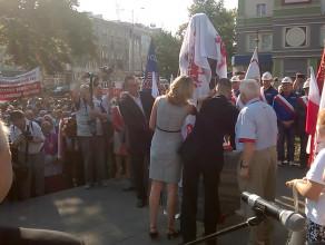 Odsłonięcie pomnika Anny Walentynowicz we Wrzeszczu