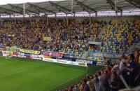 Radość kibiców Arki po golu w meczu z GKS Katowice
