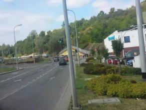 Przejazd nową linią tramwajową na Morenę