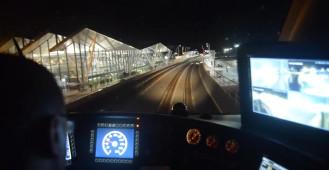 Pierwszy rozkładowy pociąg przy lotnisku w Gdańsku
