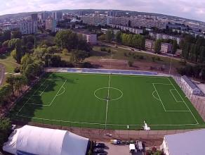 Nowy ministadion na Zaspie z lotu ptaka