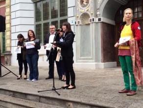 Manifestacja poparcia dla przyjmowania uchodźców w Polsce
