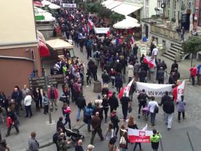Marsz przeciw nielegalnym imigrantom w Gdańsku