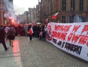 Manifestacja przeciwko przyjmowaniu uchodźców do Polski
