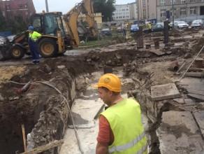 Skutki awarii od strony budowy Forum Gdańsk