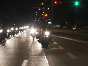Motocykliści świecili przykładem w Gdańsku