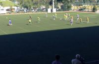 Nietypowe rozegranie rogu przez piłkarzy Bałtyku Gdynia