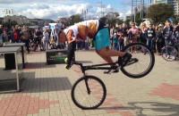 Rowerowy trial w Gdyni w dniu Zrównoważonego Transportu