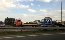 Wypadek przed wjazdem na A1