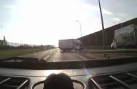 Zawracał na Trasie W-Z... ciężarówką