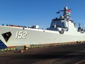 Wejście do portu niszczyciela armii CHRL Jinan