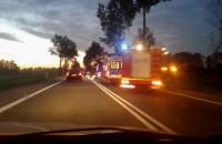 Wypadek na DK7 przed Cedrami Małymi