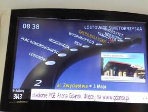 Nieaktualne informacje na elektronicznych tablicach w tramwajach