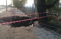 Skutki awarii na budowie ciepłociągu na Przeróbce