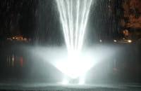 Nowa fontanna na stawie w Oliwie