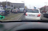 Pościg za złodziejem auta ulicami Gdańska