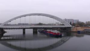 Postęp prac na budowie linii do portu. Gotowy most nad Martwą Wisłą
