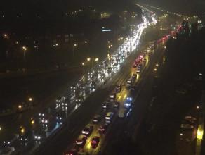 Gigantyczny korek na Błędniku w Gdańsku