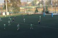 Derby Trójmiasta w rugby Arka Gdynia - Lechia Gdańsk. Przyłożenie Szymona Sirockiego