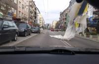 Skutki wichury  na ul. Świętojańskiej w Gdyni