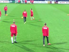 Młodzieżowa reprezentacja Polski przed meczem z Norwegią w Gdyni