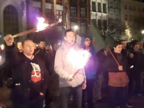 Młodzież wszechpolska protestuje przeciwko przyjmowaniu uchodźców