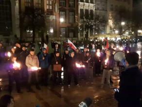 Młodzież wszechpolska w Gdańsku przeciwko uchodźcom