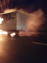 Płonąca ciężarówka na obwodnicy Trójmiasta