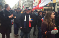 Gdynia - Marsz solidarności z rodzinami ofiar zamachów w Paryżu