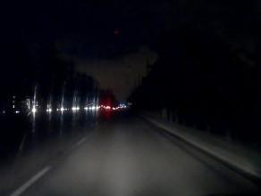 Aleja Zwycięstwa w Gdańsku tonie w ciemnościach