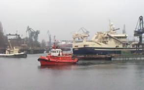 Problemy przy wydokowaniu statku