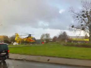 Lądowanie śmigłowca LPR na Obłużu do wypadku