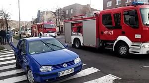 Wypadek na ul. Wielkopolskiej