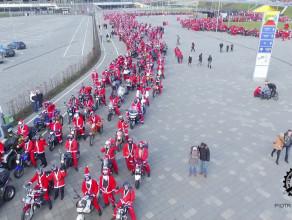 Mikołaje na motocyklach 2015 z lotu ptaka