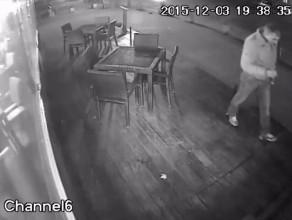 Kamera zarejestrowałą złodzieja laptopa