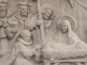 Szopka z piasku i Wigilia Oliwska