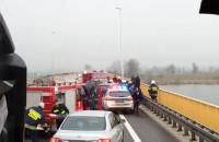 Wypadek na wiadukcie nad Wisłą
